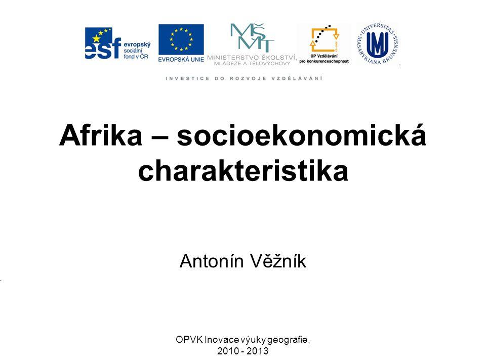 Afrika – socioekonomická charakteristika