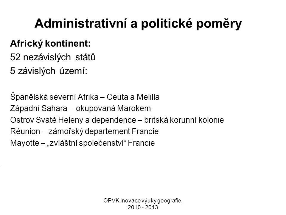 Administrativní a politické poměry
