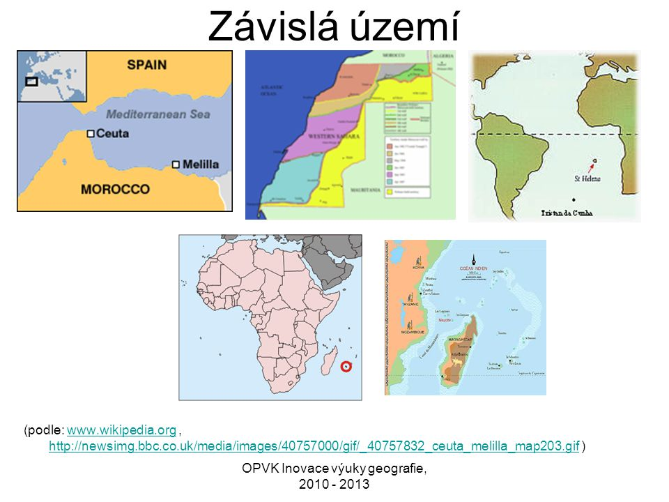 OPVK Inovace výuky geografie, 2010 - 2013