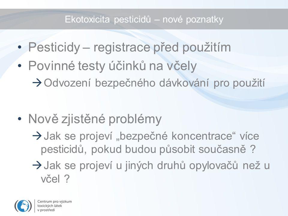 Ekotoxicita pesticidů – nové poznatky