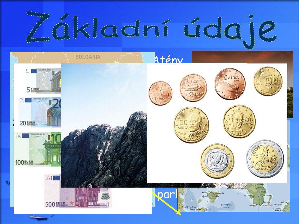 Základní údaje Hlavní město: Atény Rozloha: 131 940 km²
