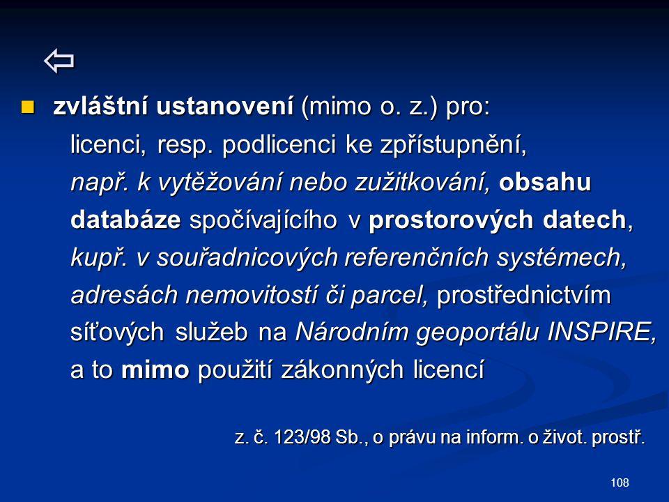  zvláštní ustanovení (mimo o. z.) pro: