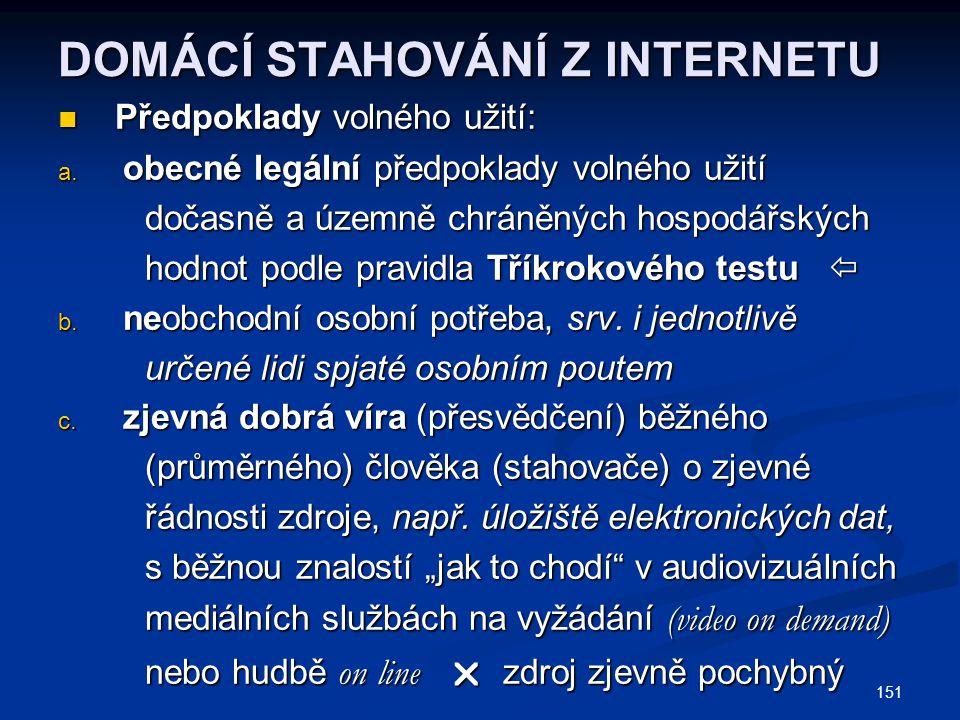 DOMÁCÍ STAHOVÁNÍ Z INTERNETU