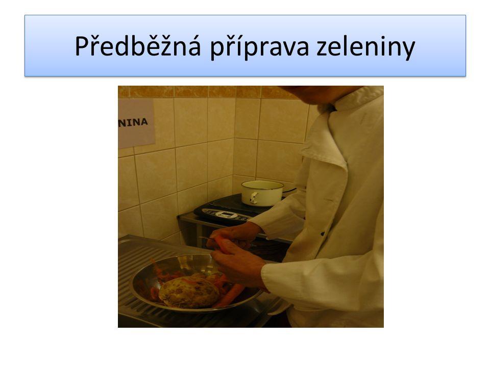 Předběžná příprava zeleniny