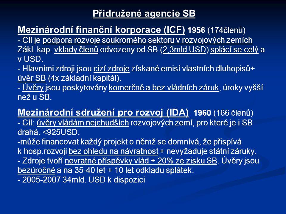 Mezinárodní finanční korporace (ICF) 1956 (174členů)