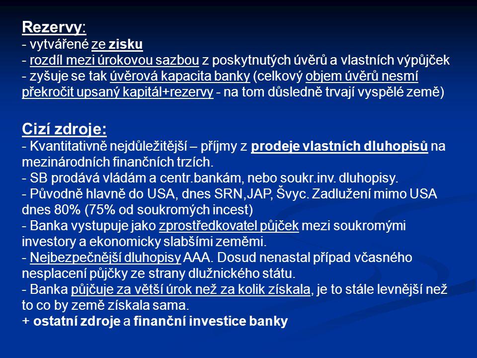 Rezervy: Cizí zdroje: vytvářené ze zisku