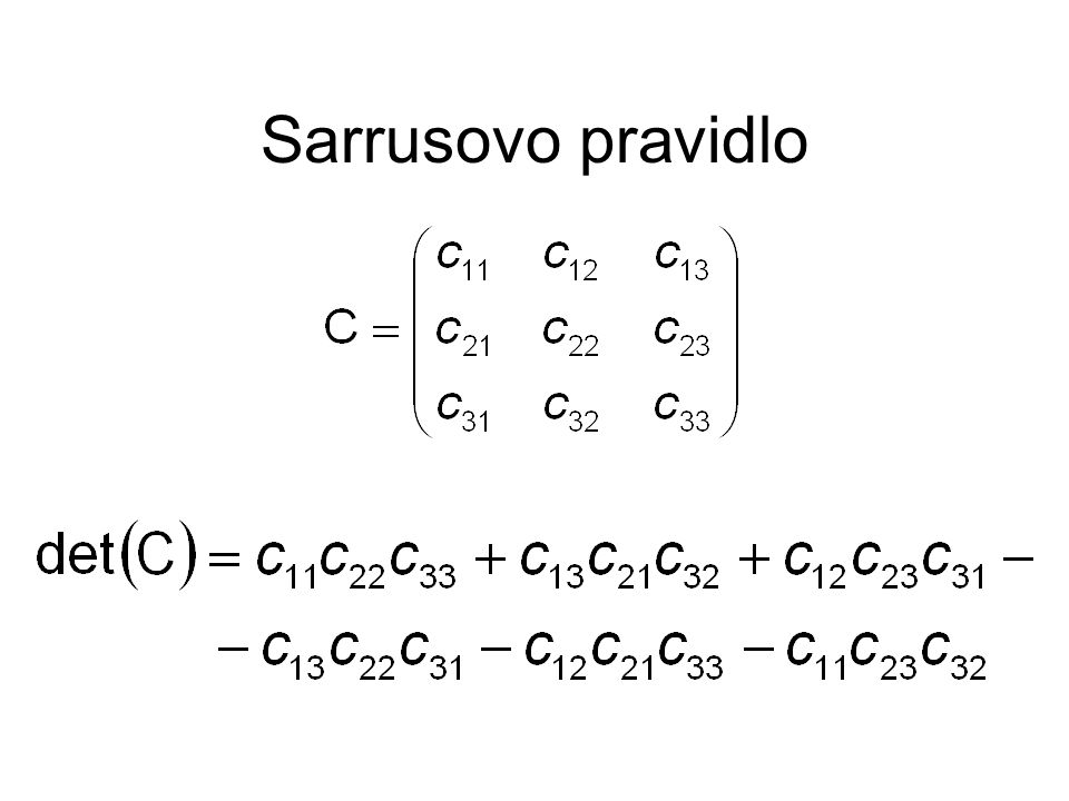 Sarrusovo pravidlo