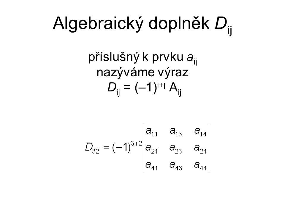 Algebraický doplněk Dij