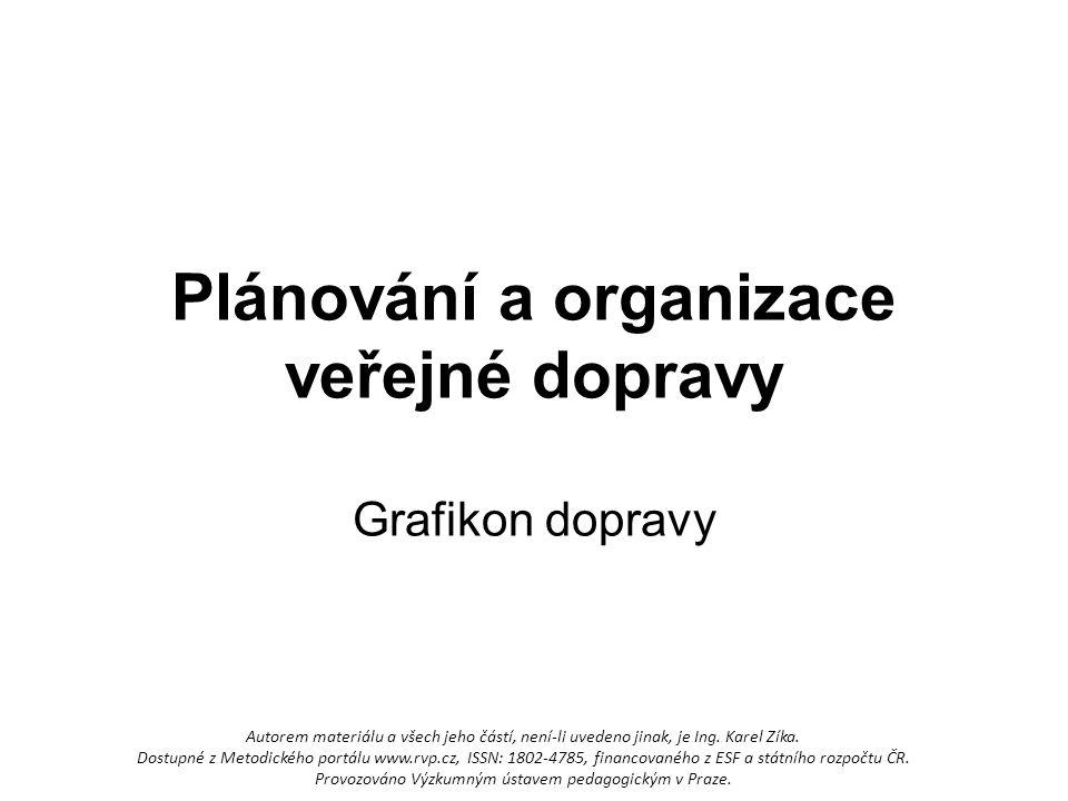 Plánování a organizace veřejné dopravy