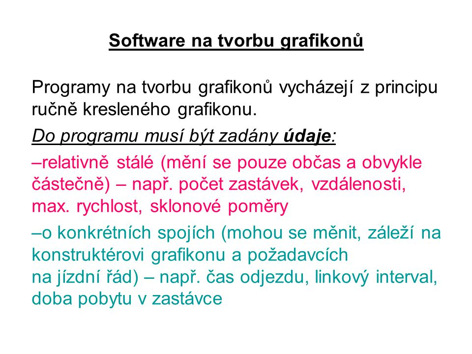 Software na tvorbu grafikonů