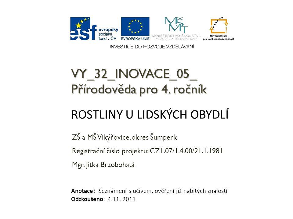 VY_32_INOVACE_05_ Přírodověda pro 4. ročník