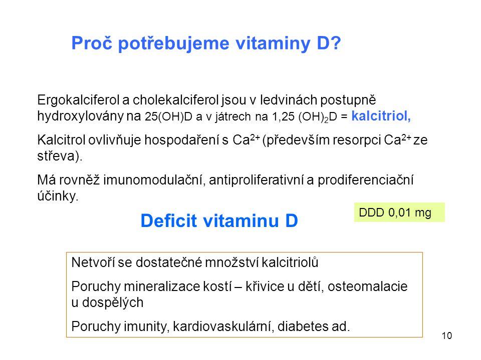 Proč potřebujeme vitaminy D