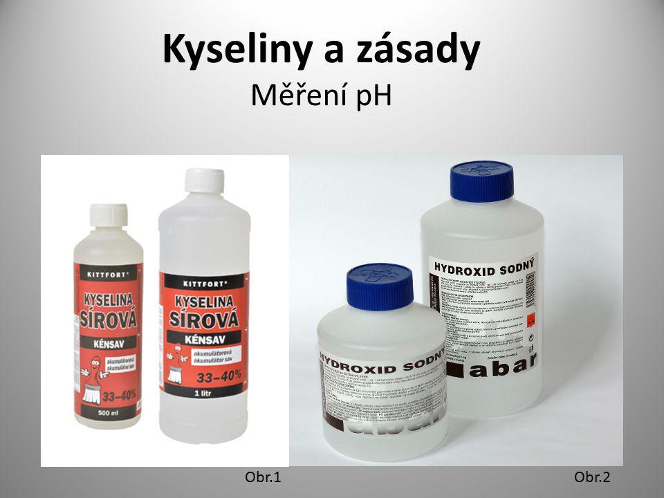 Kyseliny a zásady Měření pH