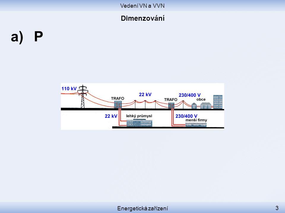 Vedení VN a VVN Dimenzování P Energetická zařízení