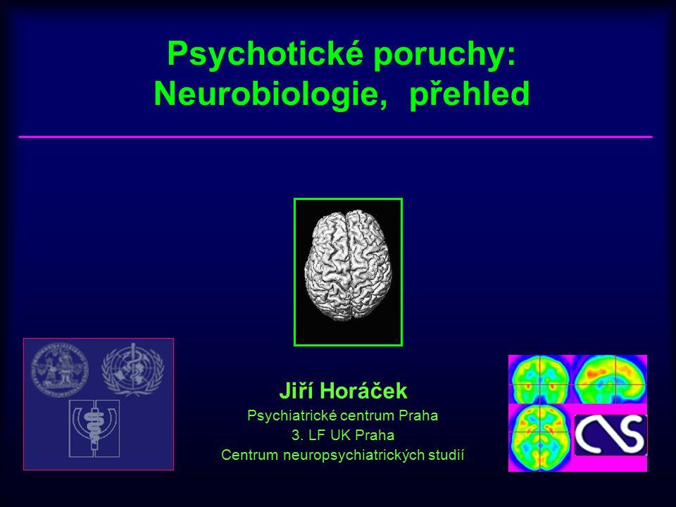 Psychotické poruchy: Neurobiologie, přehled