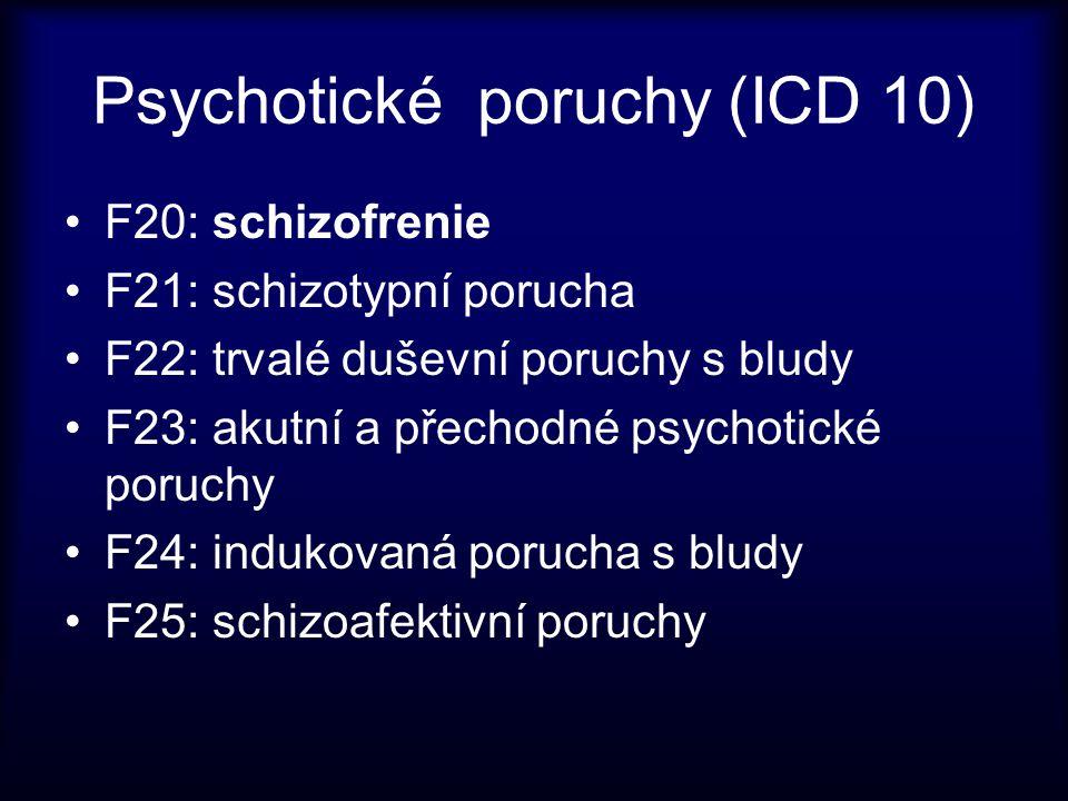 Psychotické poruchy (ICD 10)