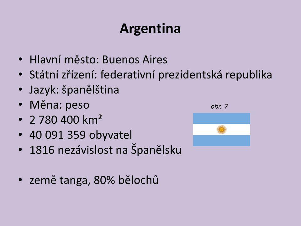 Argentina Hlavní město: Buenos Aires