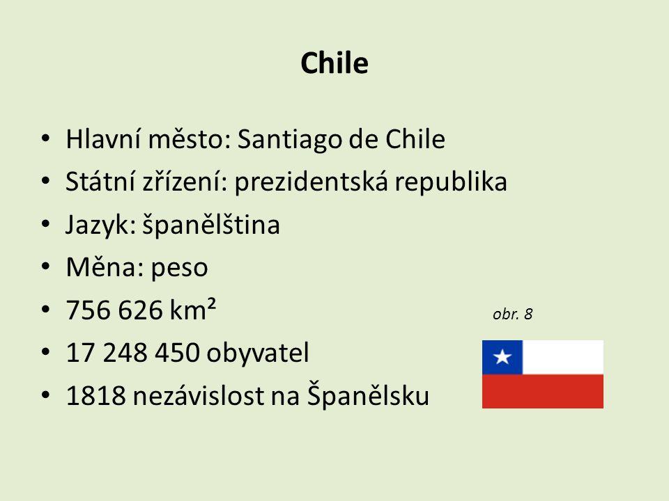 Chile Hlavní město: Santiago de Chile