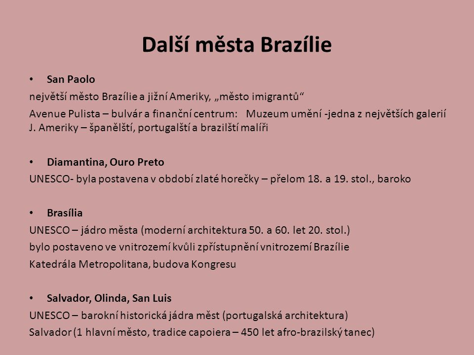 Další města Brazílie San Paolo