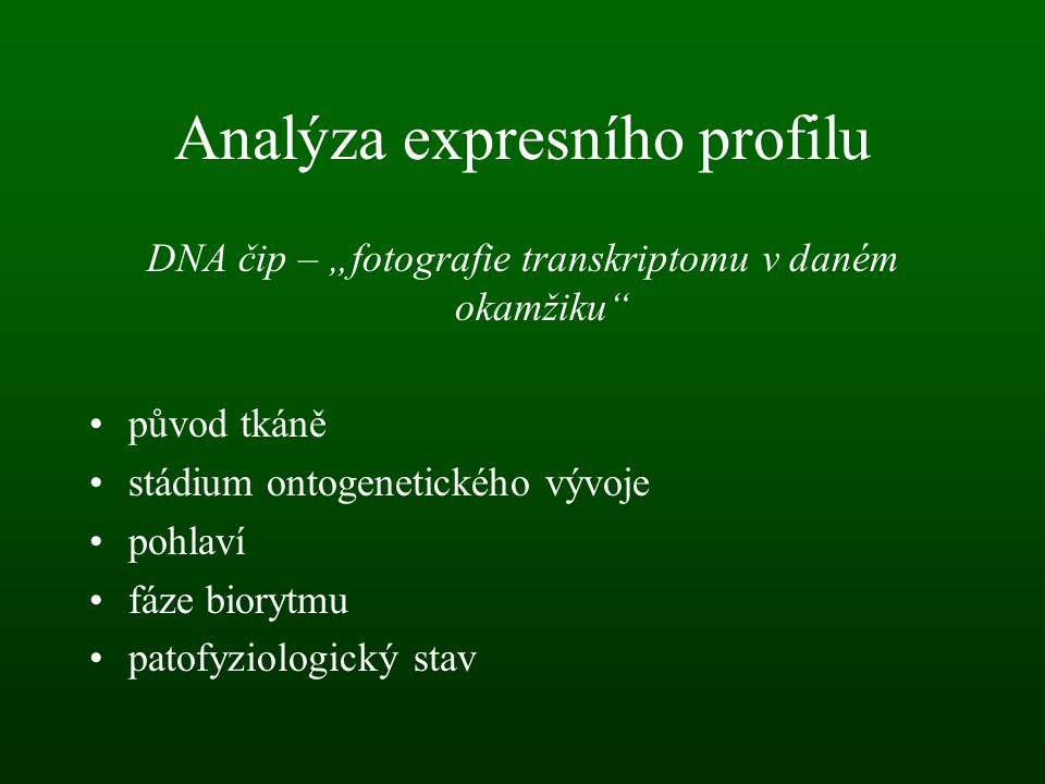 Analýza expresního profilu