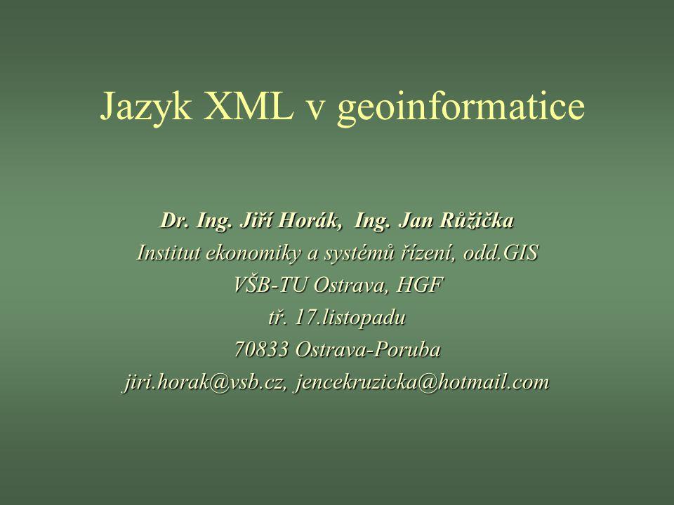 Jazyk XML v geoinformatice