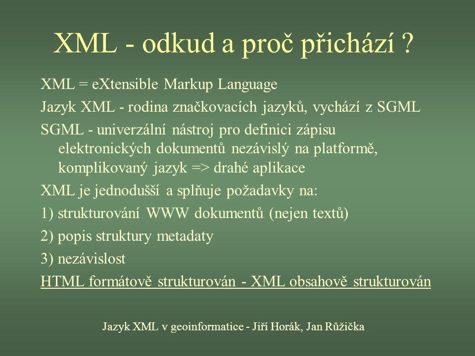 XML - odkud a proč přichází