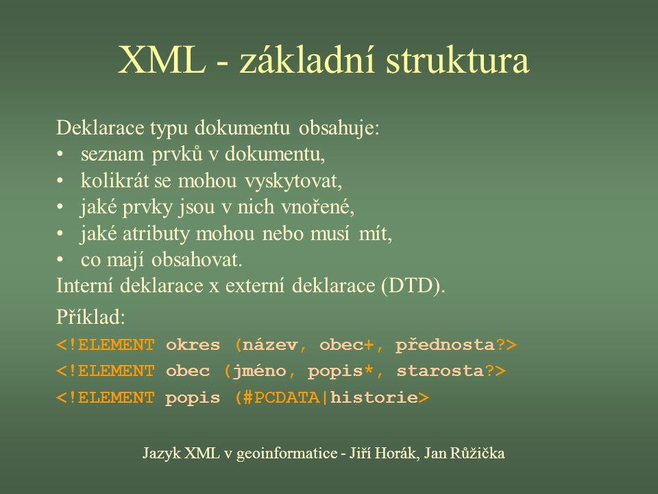 XML - základní struktura