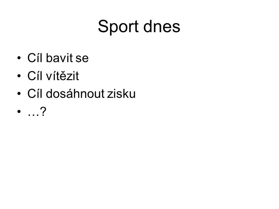 Sport dnes Cíl bavit se Cíl vítězit Cíl dosáhnout zisku …