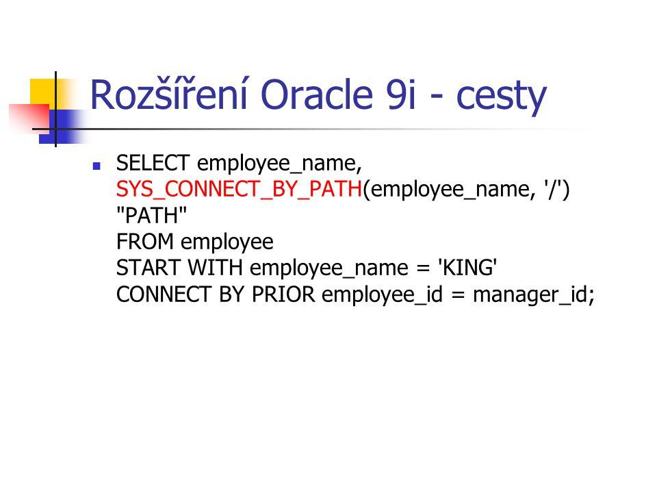 Rozšíření Oracle 9i - cesty
