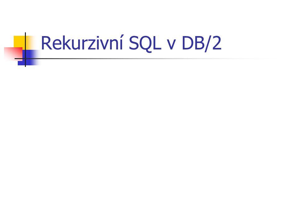 Rekurzivní SQL v DB/2