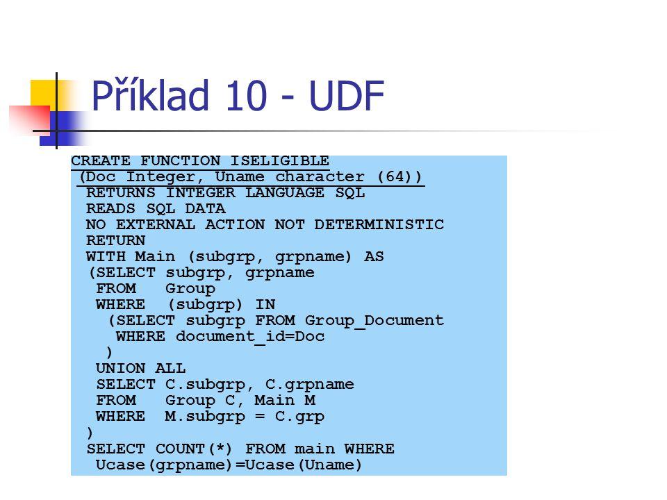 Příklad 10 - UDF
