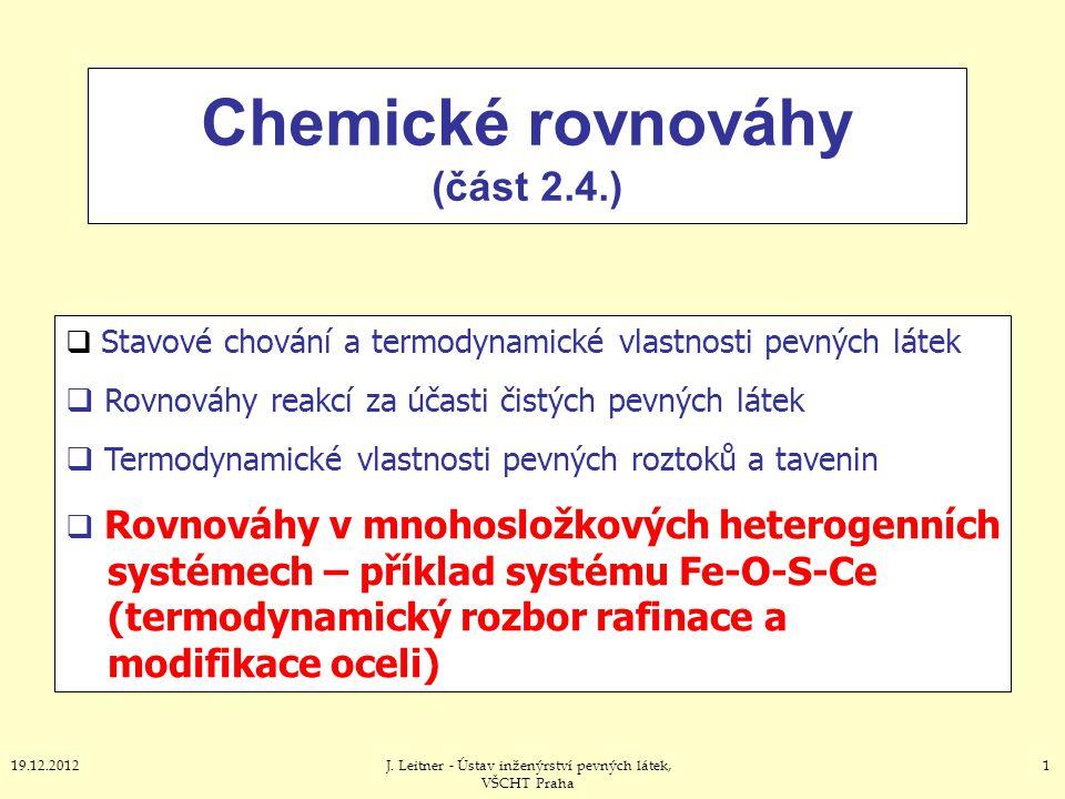 Chemické rovnováhy (část 2.4.)
