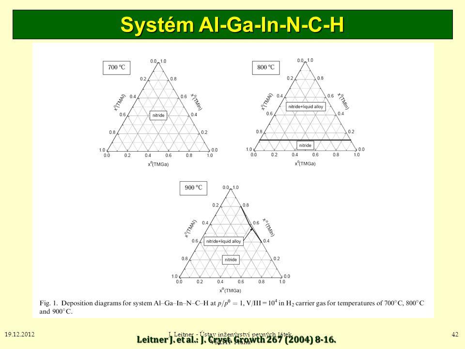 Systém Al-Ga-In-N-C-H