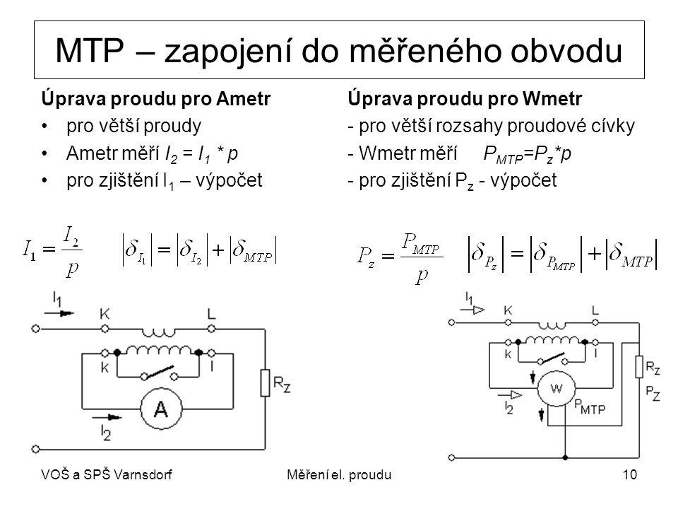 MTP – zapojení do měřeného obvodu