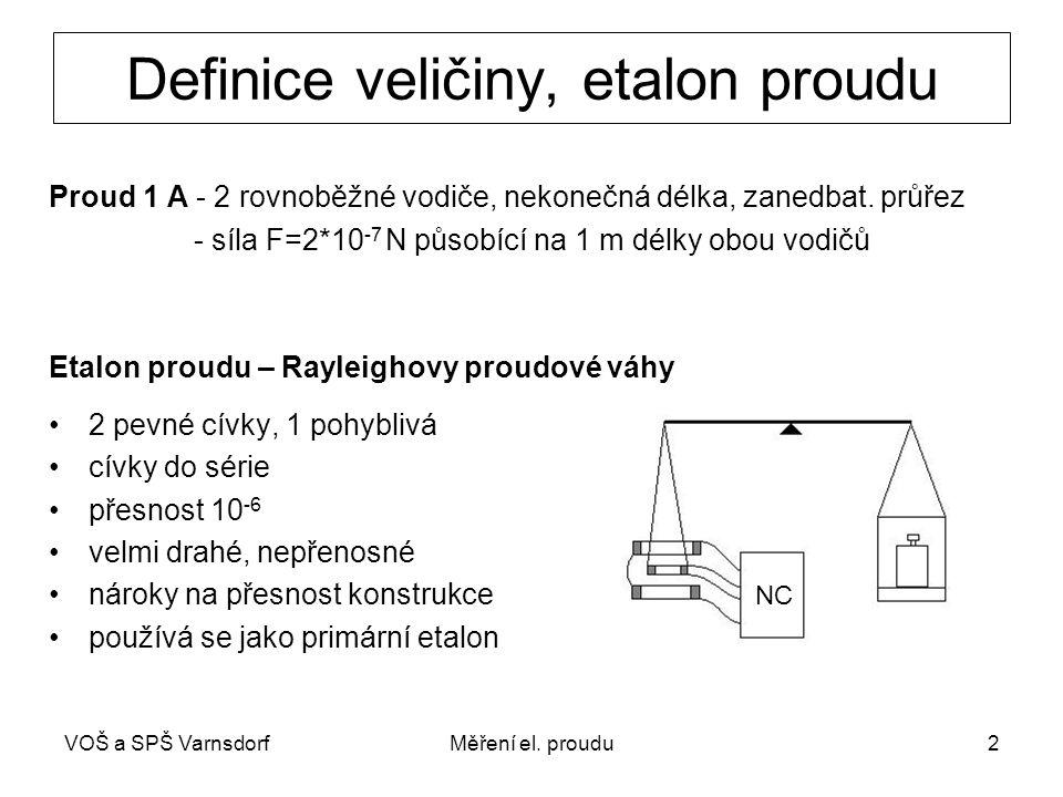 Definice veličiny, etalon proudu