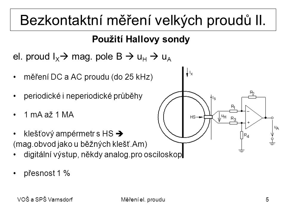Bezkontaktní měření velkých proudů II.
