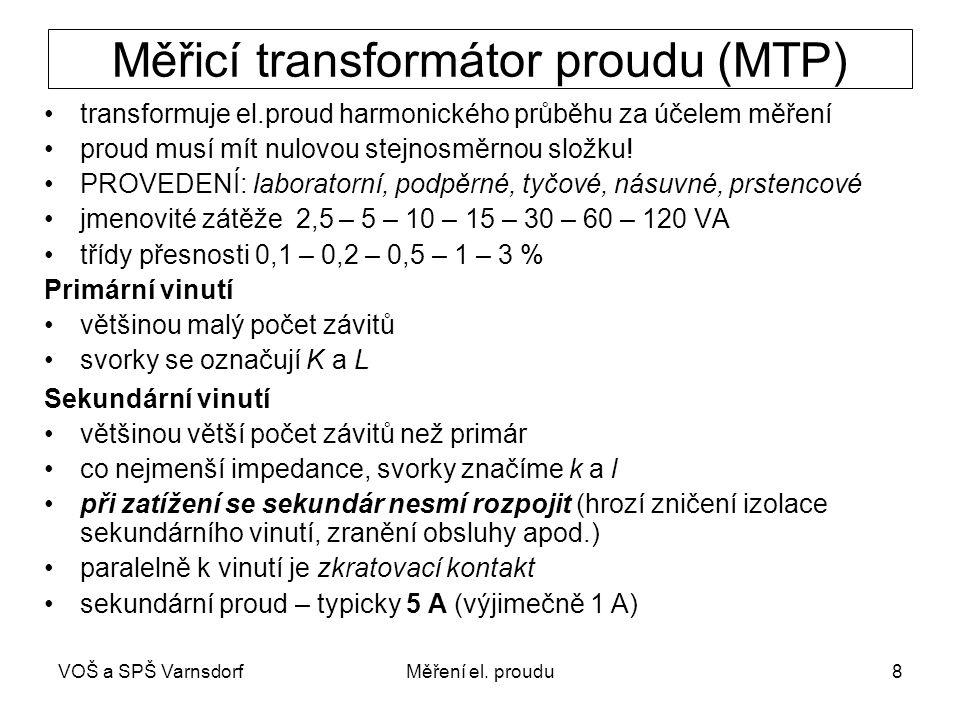 Měřicí transformátor proudu (MTP)