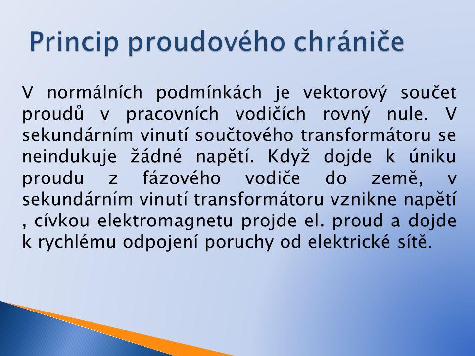 Princip proudového chrániče
