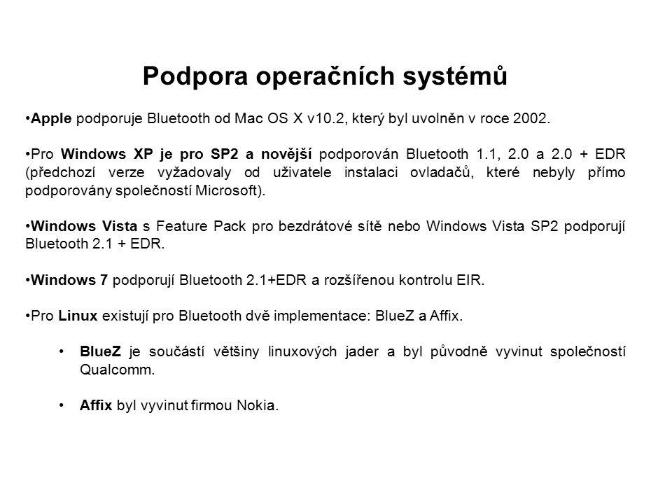 Podpora operačních systémů