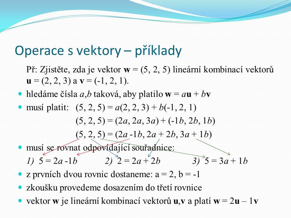 Operace s vektory – příklady