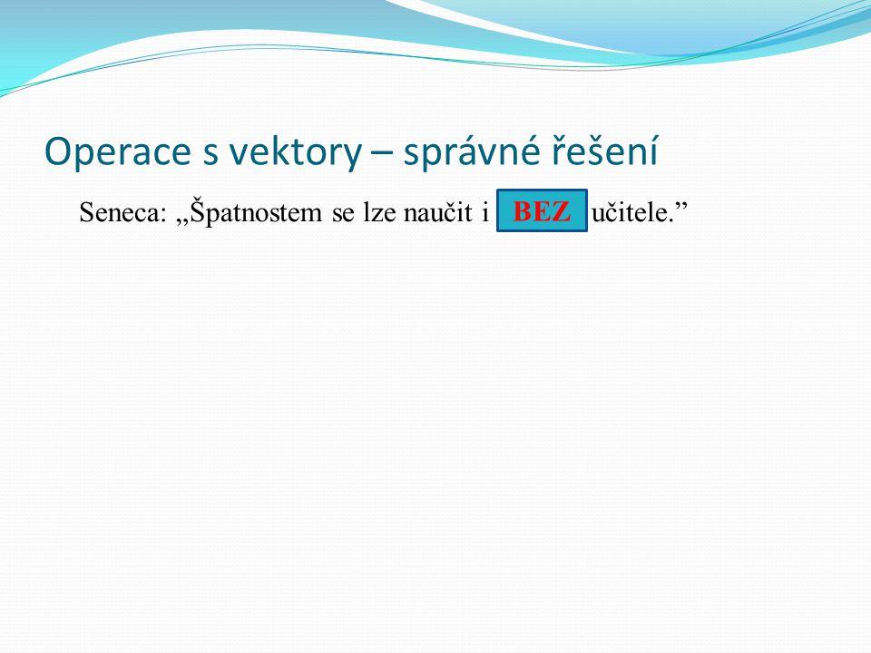 Operace s vektory – správné řešení