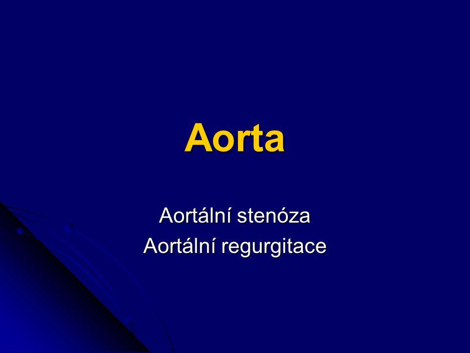 Aortální stenóza Aortální regurgitace