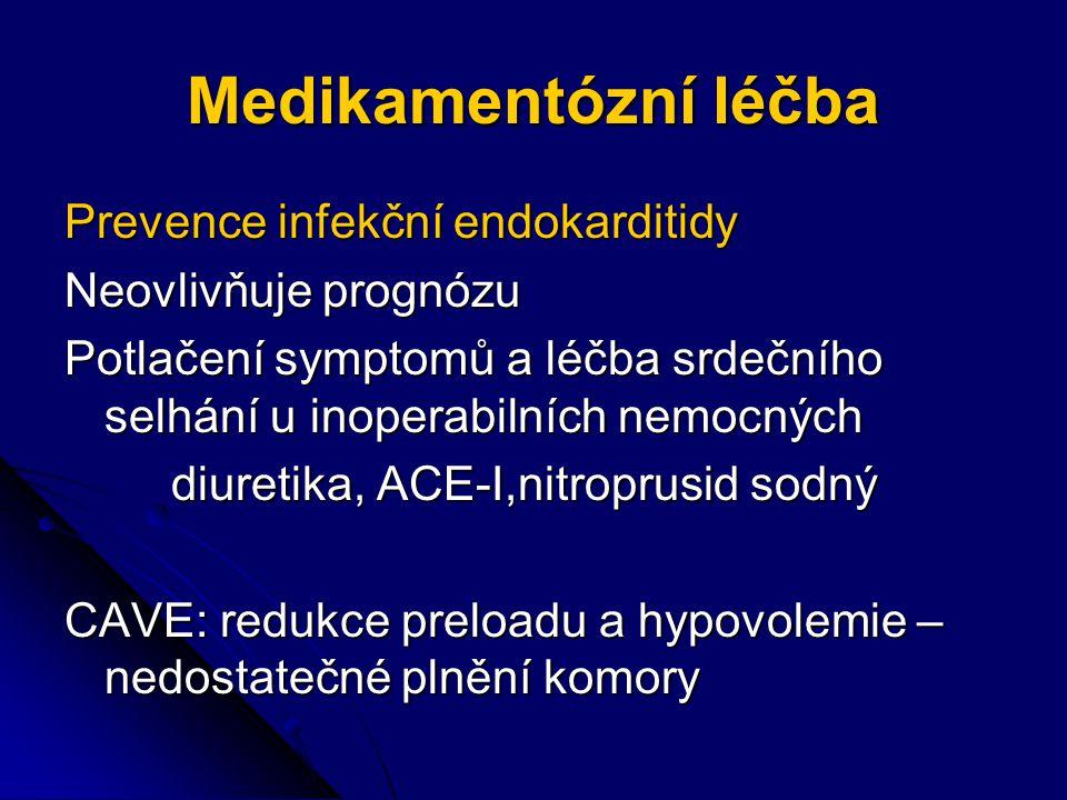 Medikamentózní léčba Prevence infekční endokarditidy
