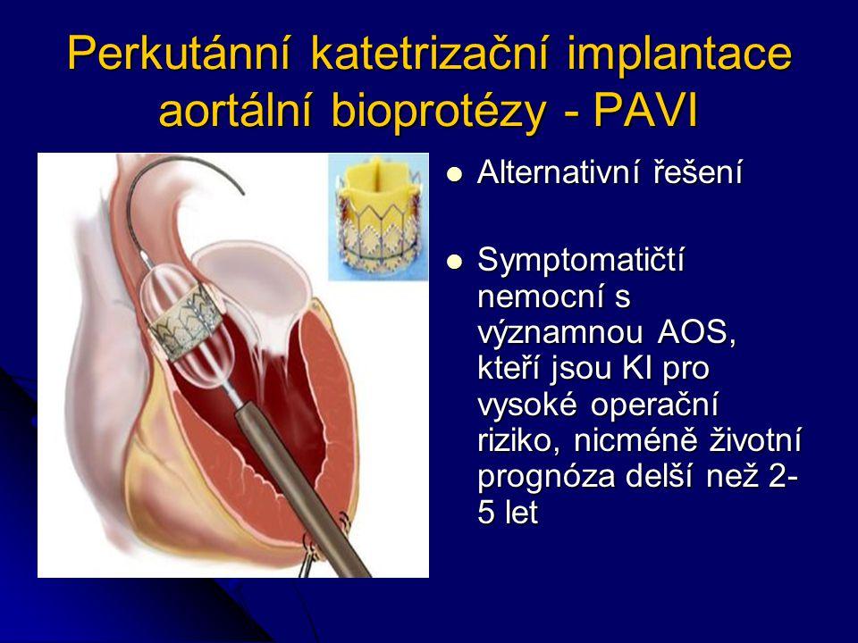Perkutánní katetrizační implantace aortální bioprotézy - PAVI