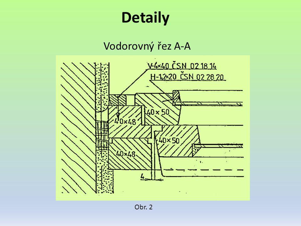 Detaily Vodorovný řez A-A Obr. 2