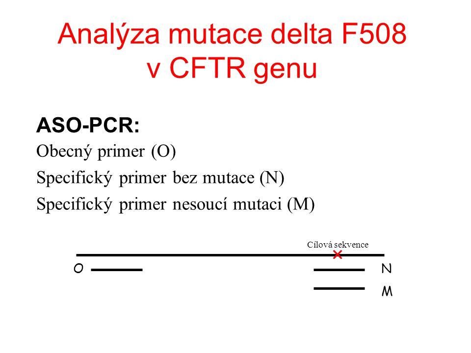 Analýza mutace delta F508 v CFTR genu