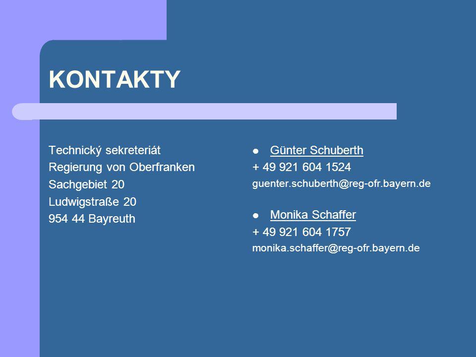 KONTAKTY Technický sekreteriát Regierung von Oberfranken Sachgebiet 20