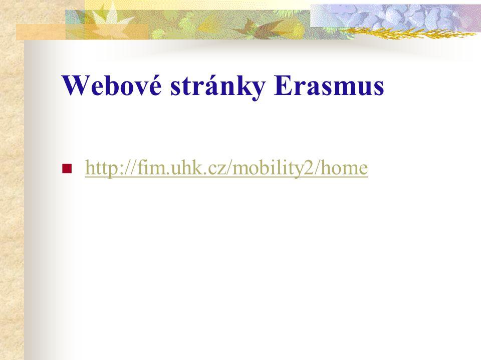 Webové stránky Erasmus