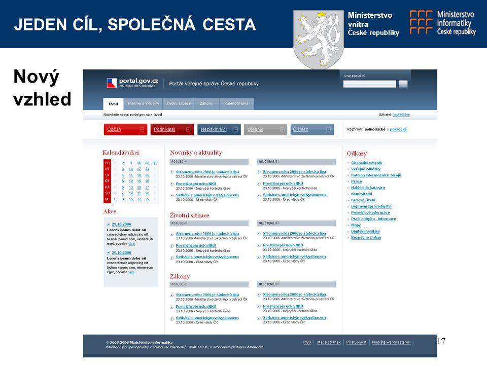 Nový vzhled www.portal.gov.cz