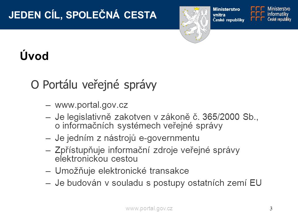 O Portálu veřejné správy